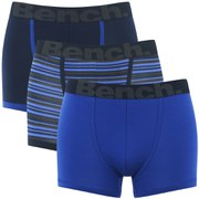 Bench Men's 3-Pack Striped Boxers - Blue