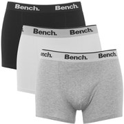 Bench Men's 3-Pack Small Logo Band Boxers - Black/White/Grey