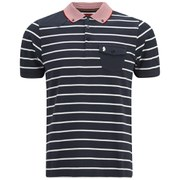 Luke 1977 Men's Albarn Striped Polo Shirt - Navy