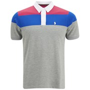 Luke 1977 Men's Mickey Freedom Detailed Polo Shirt - Grey