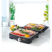 Salter Marble Coated Health Grill - Black