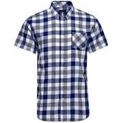 Jack & Jones Men's Core Letter One Pocket Camp Shirt - Black