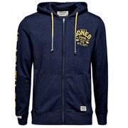 Jack & Jones Men's Originals Went Sweat Zip Hoody - Dress Blues