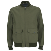 Knutsford Men's 'Made in England' Cotton Zip-Through Bomber Jacket - Lovat/Khaki