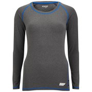 Dcore Women's Performance Long Sleeve T-Shirt, Grey (USA)