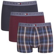 Tommy Hilfiger Men's Sidde Trunk 3-Pack - Red/Navy/Check
