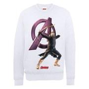 Marvel Avengers Age of Ultron Hawkeye Sweatshirt - White