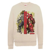 Marvel Avengers Age of Ultron Hulk vs. Hulkbuster Split Sweatshirt - Beige