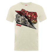 Marvel Avengers Men's Age of Ultron Hulk vs. Hulkbuster Shards T-Shirt - Nude