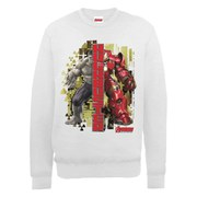 Marvel Avengers Age of Ultron Hulk vs. Hulkbuster Split Sweatshirt - Ash Grey