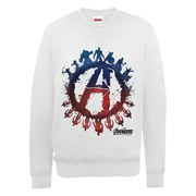 Marvel Avengers Age of Ultron Team Silhouette Logo Sweatshirt - Ash Grey
