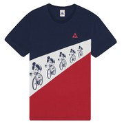 Le Coq Sportif Tour de France 2015 N6 Short Sleeved T-Shirt - Blue
