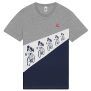 Le Coq Sportif Tour de France 2015 N6 Short Sleeved T-Shirt - Light Grey