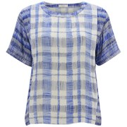 Paul by Paul Smith Women's Checked T-Shirt - Blue