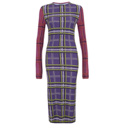 House of Holland Women's Tartan Viscose Midi Dress - Purple/Pink/Blue Tartan