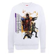 Marvel Guardians of the Galaxy Team Pose Sweatshirt - White