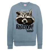 Marvel Guardians of the Galaxy Don't Call Him A Raccoon Sweatshirt - Indigo Blue