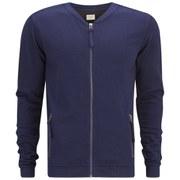 Selected Homme Men's Al Zipped Cardigan - Dark Blue
