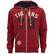 Tokyo Tigers Men's Andros Zip Through Hoody - Ribbon Red