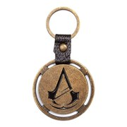 Assassin's Creed Unity Classic Crest Logo Distressed Metal Gold Disc Keyring