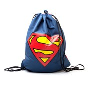 DC Comics Superman Logo Reversible Drawstring Gymbag