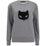 Karl Lagerfeld Women's Glitter Sweatshirt - Grey Melange