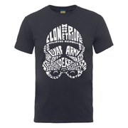 Star Wars Men's Clone Trooper Text Head T-Shirt - Charcoal