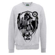 Star Wars Darth Vader Shield Sweatshirt - Heather Grey