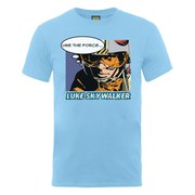 Star Wars Men's Luke Skywalker Popart T-Shirt - Sky