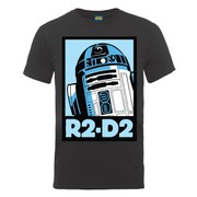 Star Wars Men's R2-D2 Poster T-Shirt - Charcoal