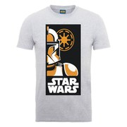 Star Wars Men's Stormtrooper Art Poster T-Shirt - Heather Grey