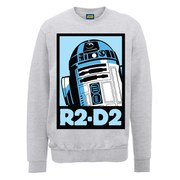 Star Wars R2-D2 Poster Sweatshirt - Heather Grey
