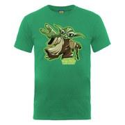 Star Wars Men's Yoda Character T-Shirt - Kelly Green