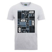 Star Wars Men's Darth Vader Comic Montage T-Shirt - Heather Grey