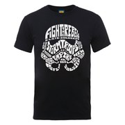 Star Wars Men's Stormtrooper Text Head T-Shirt - Black