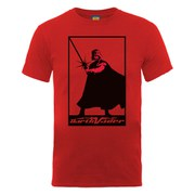 Star Wars Men's Darth Vader Simple Poster T-Shirt - Red