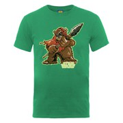 Star Wars Men's Ewok Character T-Shirt - Kelly Green