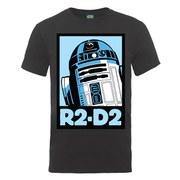 Star Wars Men's R2-D2 Poster T-Shirt - Heather Grey