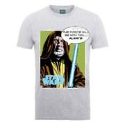 Star Wars Men's Obi-Wan The Force T-Shirt - Heather Grey