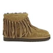 UGG Australia Women's Wynona Fringe Sheepskin Ankle Boots - Chestnut