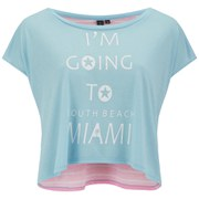 South Beach Women's Miami Crop Top - Blue