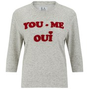 Zoe Karssen Women's 'You, Me, Oui' Sweatshirt - Grey