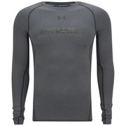 Under Armour Men's HeatGear Long Sleeve Compression Shirt - Carbon Heather