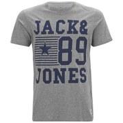 Jack & Jones Men's Originals New Giles Crew T-Shirt - Light Grey Melange