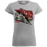 Marvel Women's Avengers Age of Ultron Hulk Vs. Hulkbuster Shards T-Shirt - Heather Grey