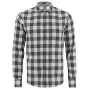 BOSS Orange Men's Esecret Checked Long Sleeve Shirt - Natural