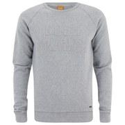 BOSS Orange Men's Wilkons Branded Crew Sweatshirt - Grey