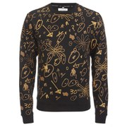 Opening Ceremony Men's Scribbles Crew Neck Sweatshirt - Black/Multi