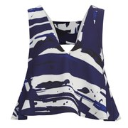 Cameo Women's Sidelines Top - Blue Paint Print