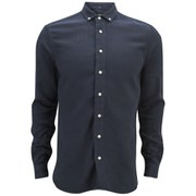 YMC Men's Heavy Cotton Long Sleeve Shirt - Navy